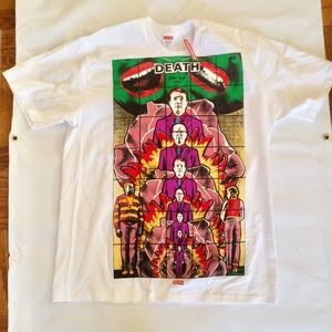 NEW SUPREME GILBERT AND GEORGE DEATH TEE XL